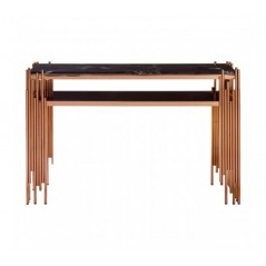Alvaro Console Table Stick Rose Gold