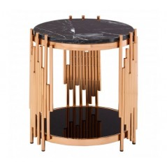 Alvaro Side Table Stick Rose Gold