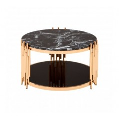 Alvaro Coffee Table Stick Rose Gold
