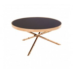 Alvaro Coffee Table Bamboo Rose Gold
