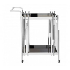 Novo Kitchen Trolley 2 Tier Rectangular Silver