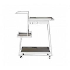 Novo Kitchen Trolley 3 Tier Rectangular Silver