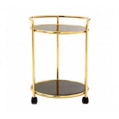 Novo Kitchen Trolley Round Gold