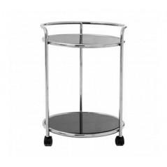 Novo Kitchen Trolley Round Silver