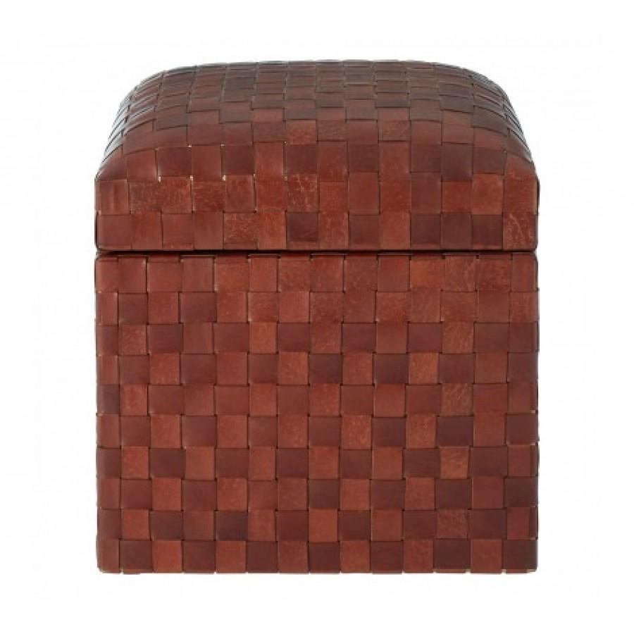 Inca Stool Square Dark Brown