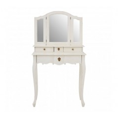 Loire Dressing Table with Mirror White