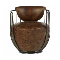 Hoxton Tub Chair Dark Brown