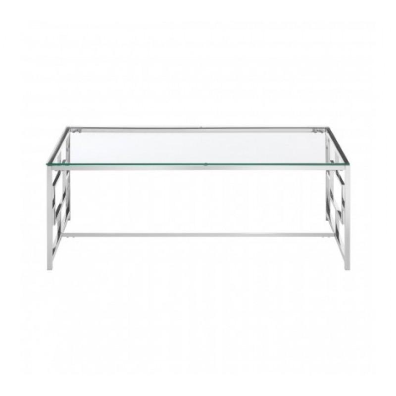 Davis Coffee Table Window Silver