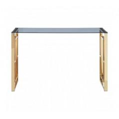 Davis Console Table Window Gold