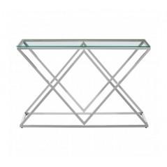 Allure Console Table Inverted Triangle Silver