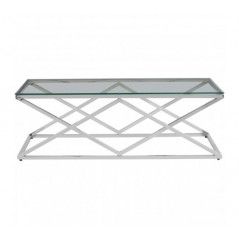 Allure Coffee Table Inverted Triangle Silver