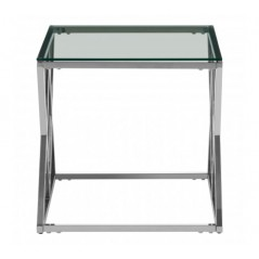 Allure End Table Inverted Triangle Silver