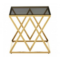 Allure End Table Inverted Triangle Gold