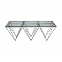 Allure Console Table Triple Triangle Silver