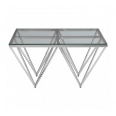 Allure Coffee Table Double Triangle Silver