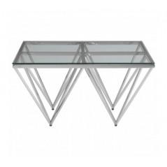 Allure Coffee Table Double Triangle Silver