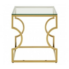 Allure End Table Curvy Gold