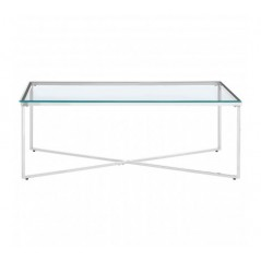 Allure Coffee Table Cross Base Silver
