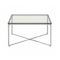 Allure End Table Cross Base Silver