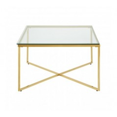 Allure End Table Cross Base Gold