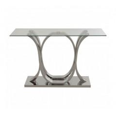 Allure Console Table Oval Silver