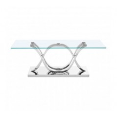 Allure Coffee Table Oval Silver