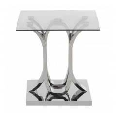 Allure End Table Oval Silver