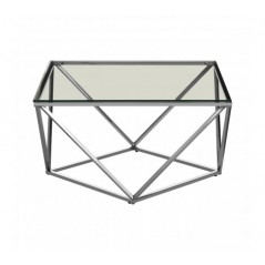 Allure End Table Twist Large Silver