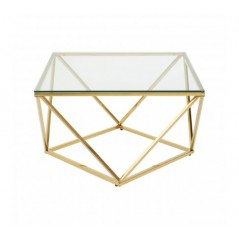 Allure End Table Twist Large Gold