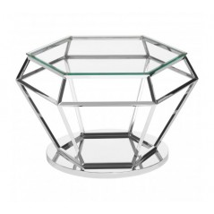 Allure End Table Diamond Large Silver