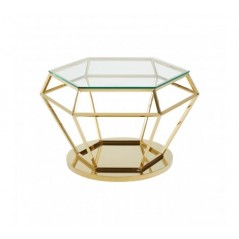 Allure End Table Diamond Large Gold