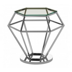 Allure End Table Diamond Small Silver