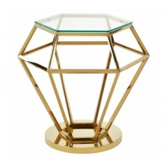 Allure End Table Diamond Small Gold
