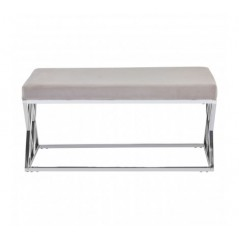 Allure Bench Inverted Triangle Brown Silver