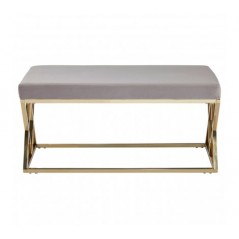 Allure Bench Inverted Triangle Brown Gold