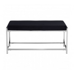 Allure Bench Marble Black Silver