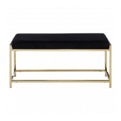 Allure Bench Marble Black Gold