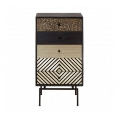 Boho 5 Drawer Cabinet Brown
