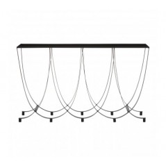 Trento Console Table Wave Black