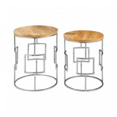 Agra Side Table Brown