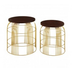 Agra Side Table Brass