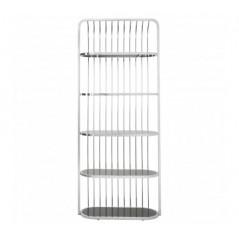 Horizon Bookshelf Cage Silver