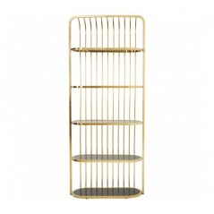 Horizon Bookshelf Cage Gold