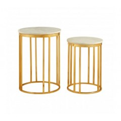 Moore Side Table Lines Gold