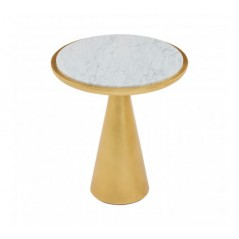 Lino Side Table Marble Small Gold