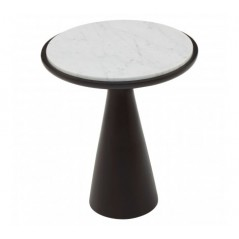 Lino Side Table Marble Small Black