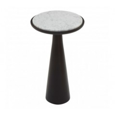 Lino Side Table Marble Large Black