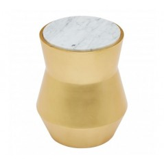 Lino Side Table Drum Small Gold