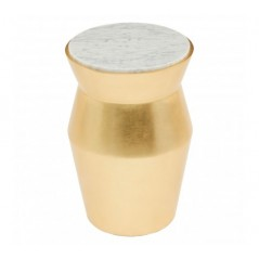 Lino Side Table Drum Large Gold
