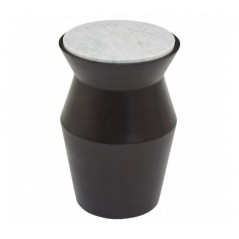 Lino Side Table Drum Large Black